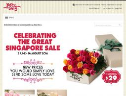 Roses Only Singapore 折扣碼